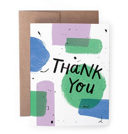 Handzy Shop & Studio Thank You (paint) Greeting Card