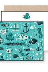 There Will Be Cake Nautical Note Card Set