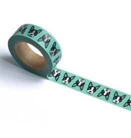 Smarty Pants Paper Co. Sea Foam Boston Terrier Washi Tape