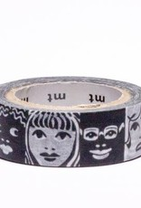 Sweet Bella Black & White Faces Washi Tape