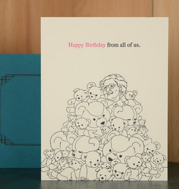 Happy Birthday From All of Us Bears Greeting Card