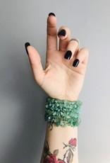 Ravenstone Green Aventurine Stretch Bracelet