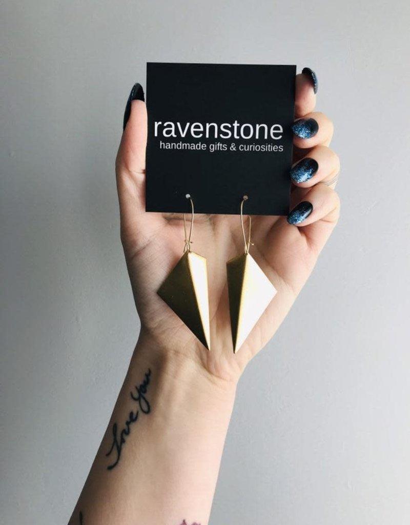 Ravenstone Abstract (Folded) Earrings