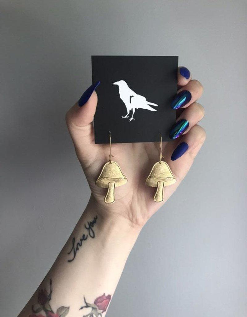 Ravenstone Mushroom Earrings