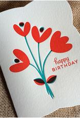 Night Owl Paper Goods Happy Birthday Graphic Tulips Greeting Card