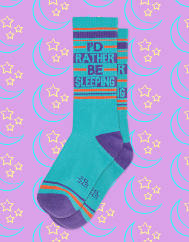 Gumball Poodle Rather Be Sleeping Ribbed Gym Socks