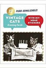 Chronicle Books Vintage Cats Greeting Cards