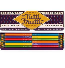 Princeton Architectural Press Tutti Frutti Colorful Pencils - Louise Fili