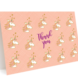 Night Owl Paper Goods Thank You Unicorns Greeting Card