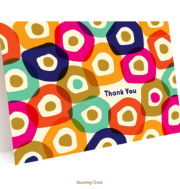 Night Owl Paper Goods Thank You Gummy Dots Greeting Card
