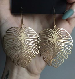 Ravenstone Tropical Leaf Earrings