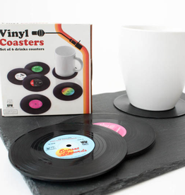 Gift Republic Retro Vinyl Coasters