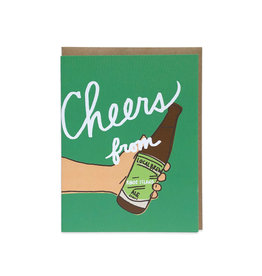 La Familia Green Cheers from RI (Beer) Greeting Card