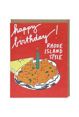 La Familia Green Happy Birthday Rhode Island Style Greeting Card