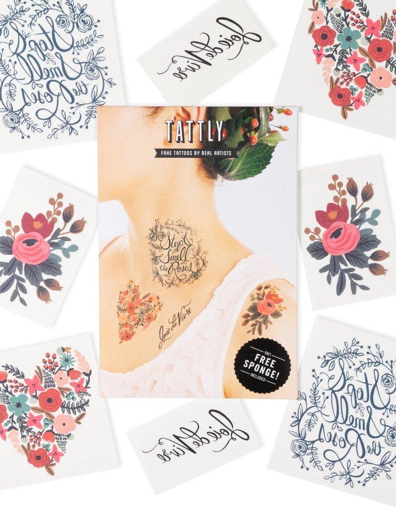 Tattly Floral Tattoo Set