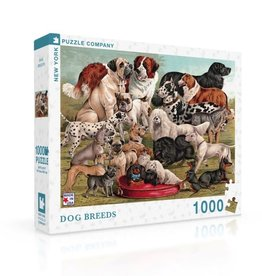 New York Puzzle Company Dog Breeds 1000 Piece Puzzle