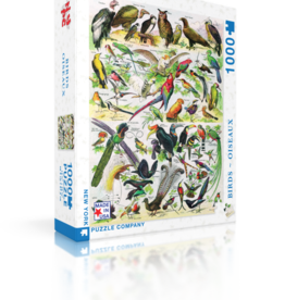 New York Puzzle Company Birds (Oiseaux) 1000 Piece Puzzle