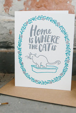 Frog & Toad Press Home Is Where The Cat Is Greeting Card
