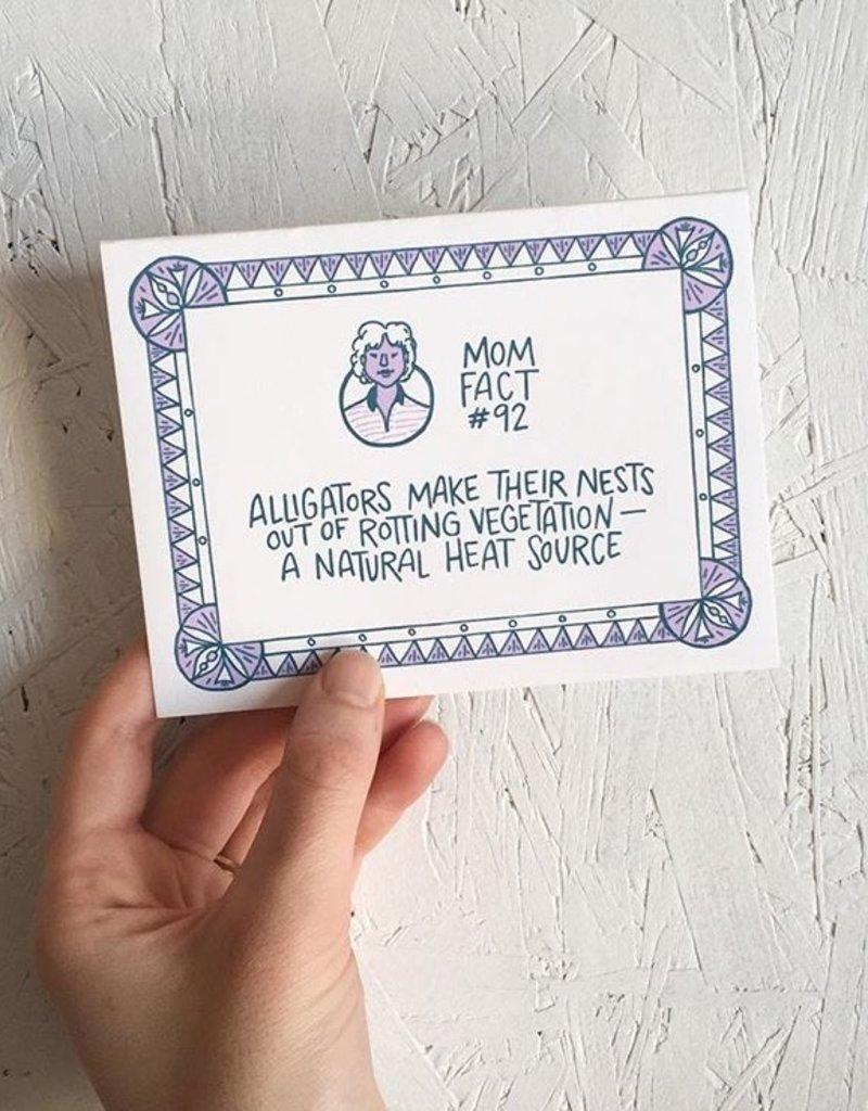 Frog & Toad Press Mom Fact #92 Alligators Greeting Card