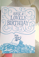 Frog & Toad Press Have a Lovely Birthday Rat Greeting Card
