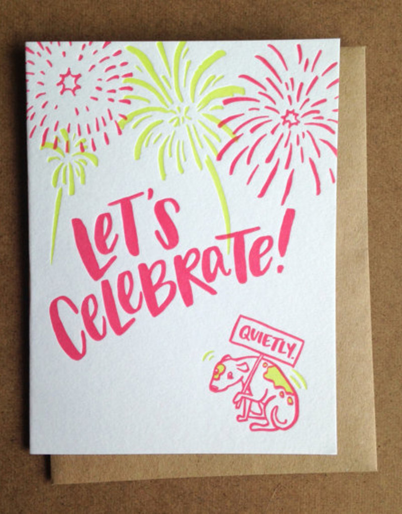 Frog & Toad Press Let's Celebrate! Quietly. Greeting Card