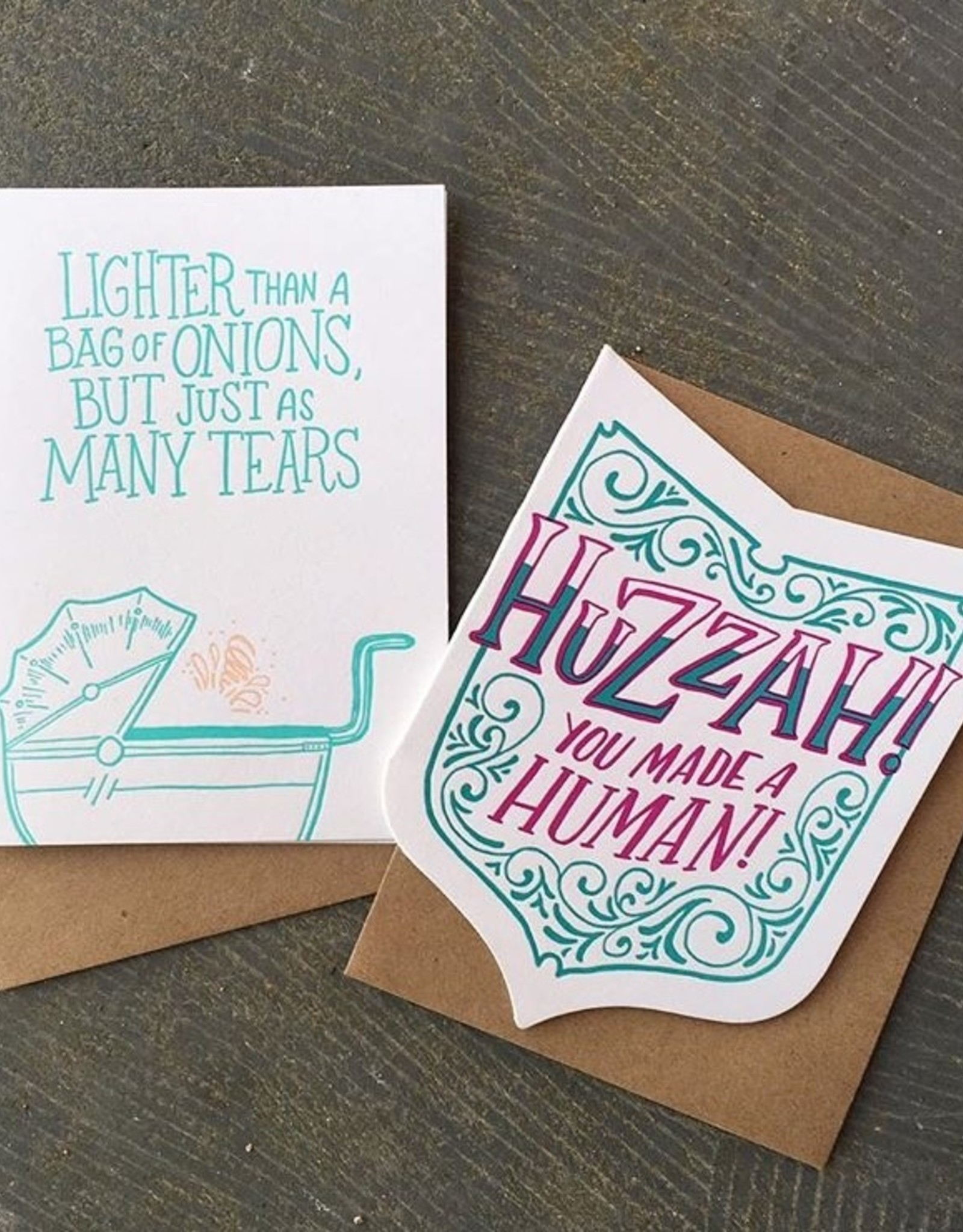 Huzzah You Made a Human! Greeting Card