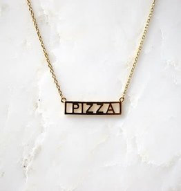 He Said, She Said Pizza Necklace