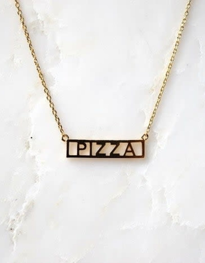 He Said, She Said Pizza Necklace