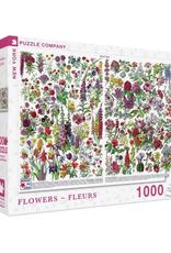 New York Puzzle Company Flowers (Fleurs) 1000 Piece Puzzle