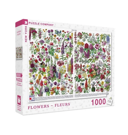 New York Puzzle Company Flowers (Fleurs) 1000 Piece Puzzle