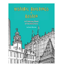 Historic Buildings of Boston Coloring Book