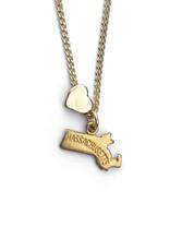 Encore Fashion Group Massachusetts Heart Charm Necklace