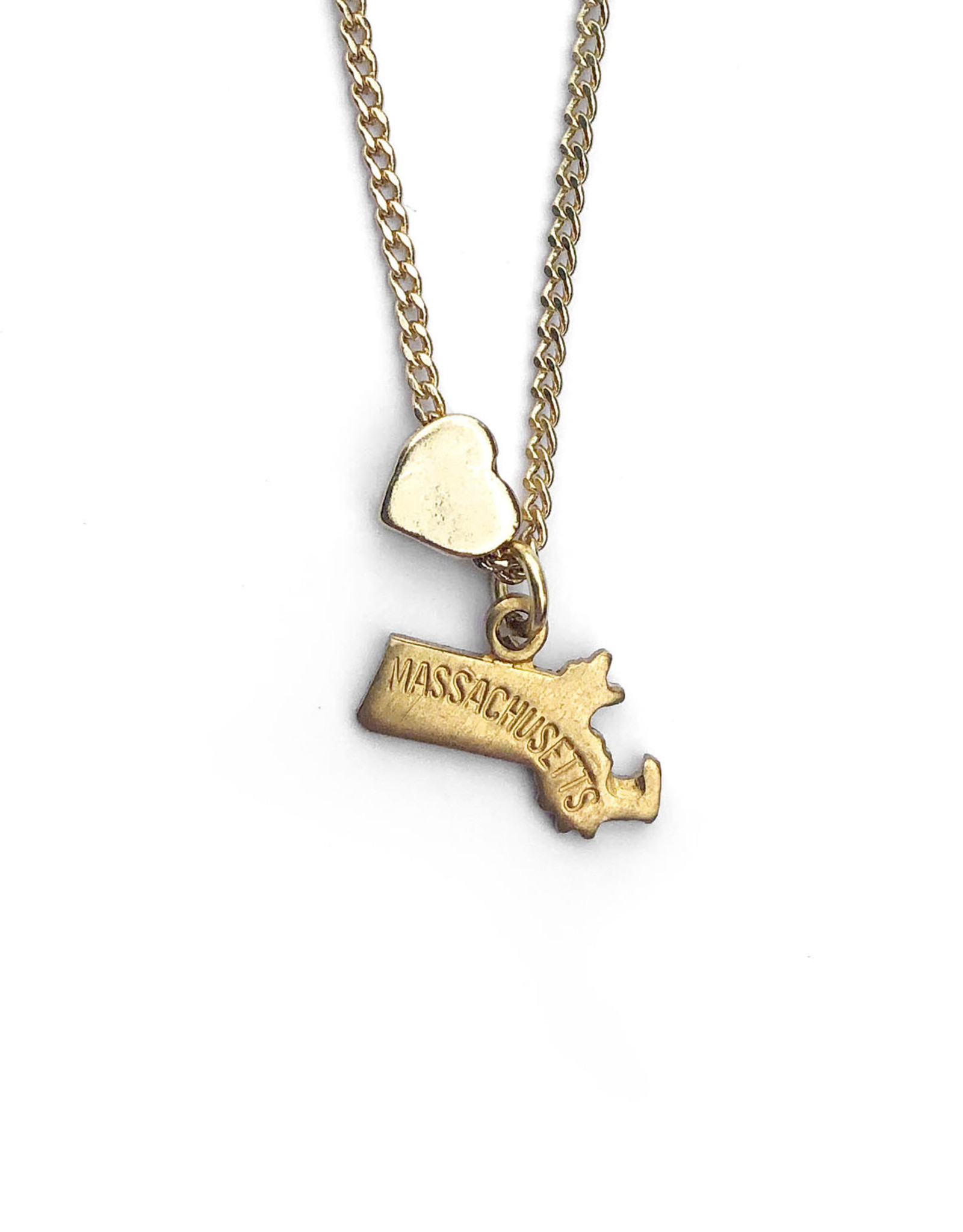 Massachusetts Heart Charm Necklace