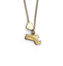 Encore Fashion Group Massachusetts Heart Charm Necklace