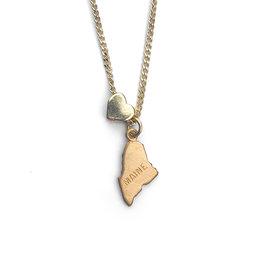 Encore Fashion Group Maine Heart Charm Necklace