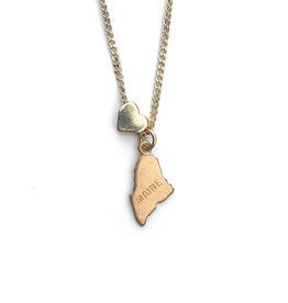 Maine Heart Charm Necklace