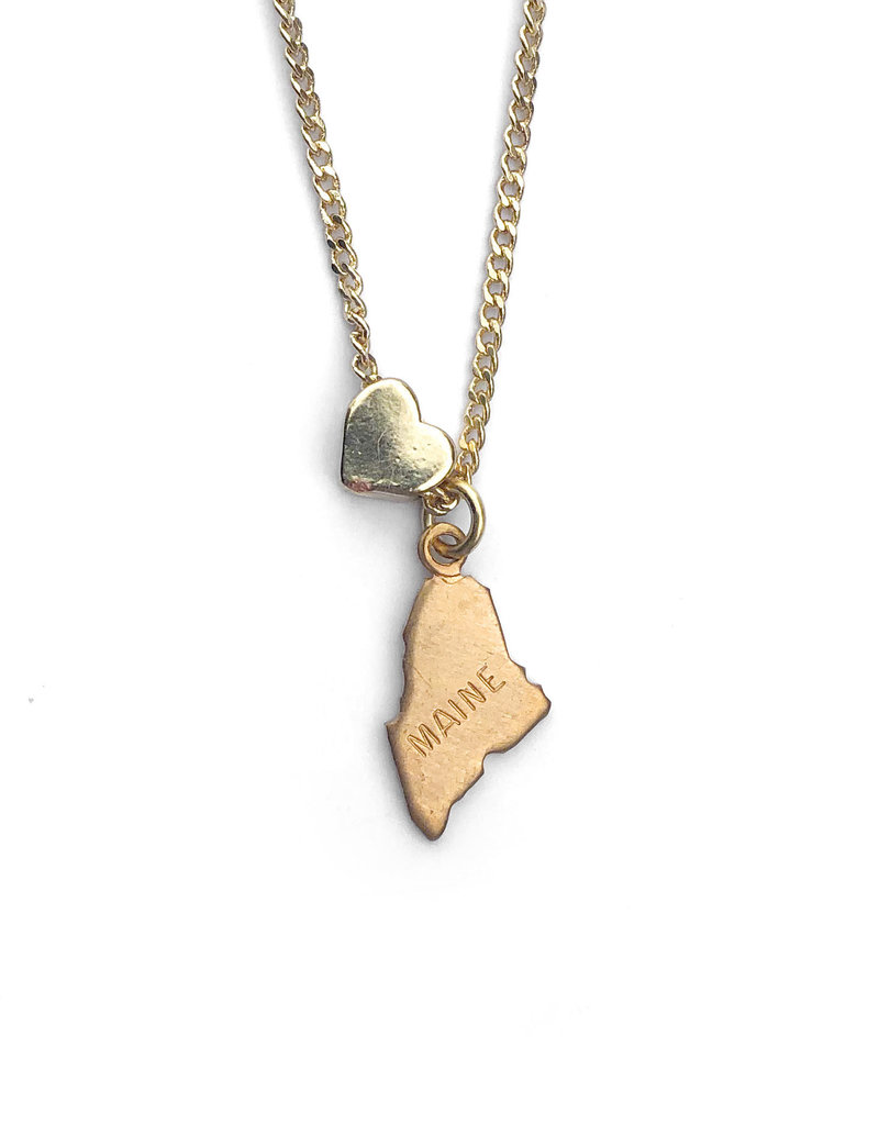 Encore Fashion Group Maine Heart Charm Necklace