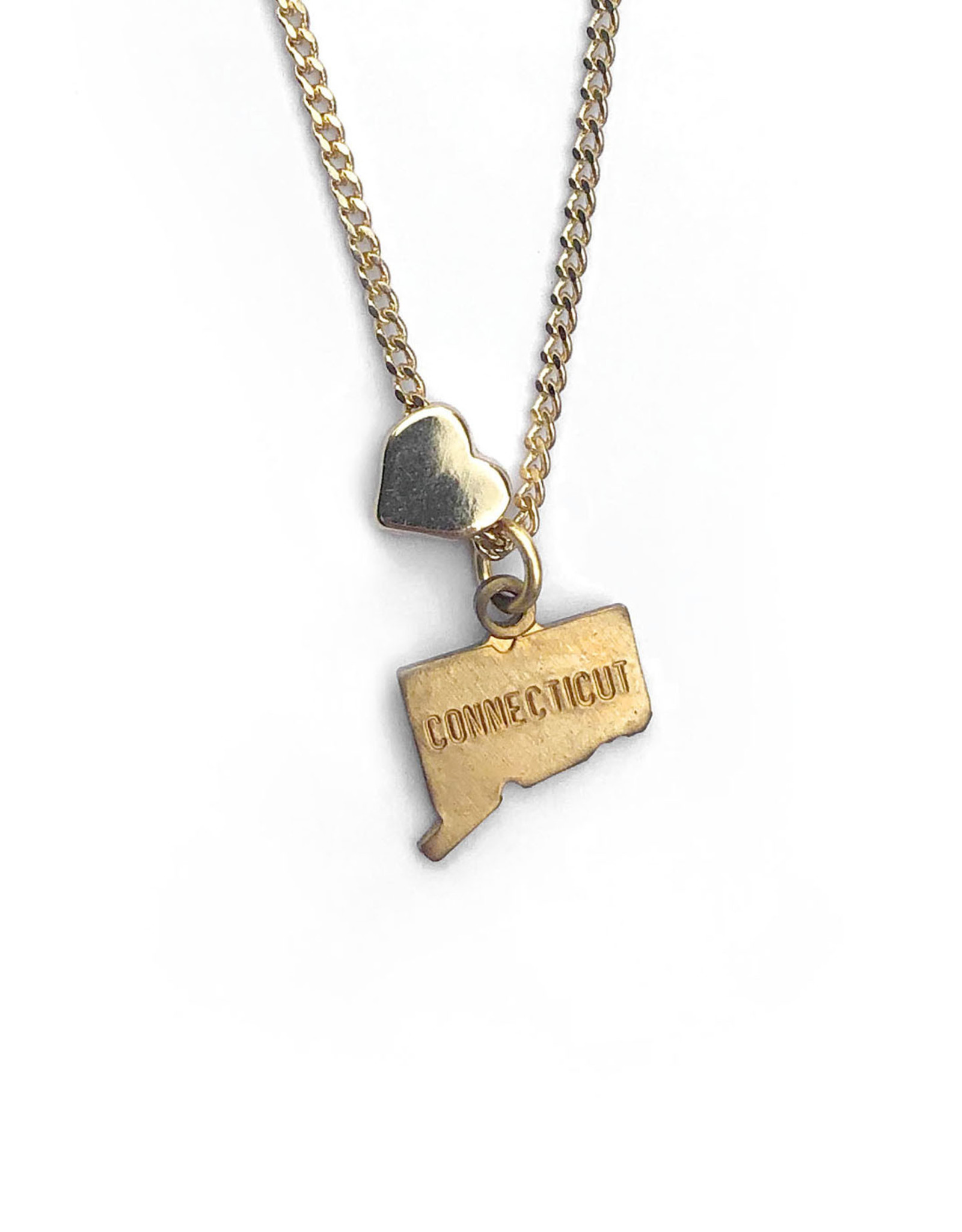 Connecticut Heart Charm Necklace