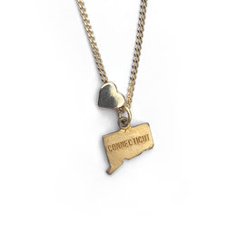 Encore Fashion Group Connecticut Heart Charm Necklace