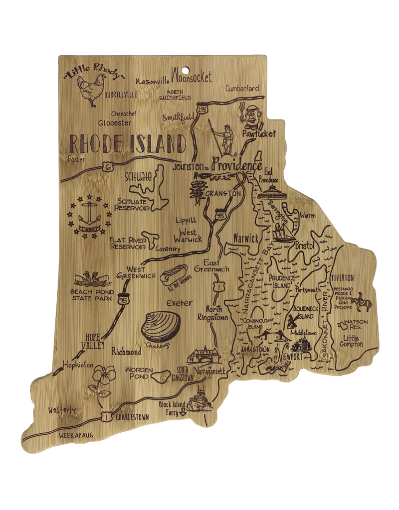 Totally Bamboo Destination Rhode Island Cutting Board