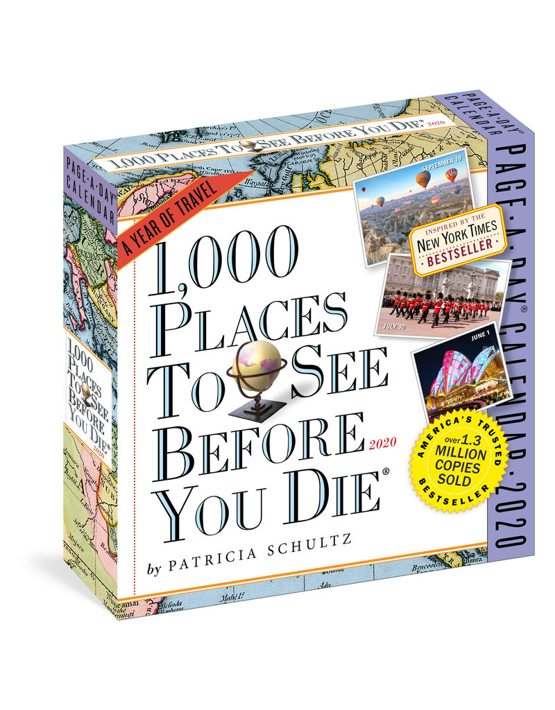 Workman Publishing Group 1000 Places to See Pad Calendar 2020