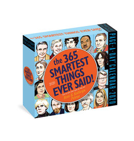 Workman Publishing Group Smartest Things Said Pad Calendar 2020