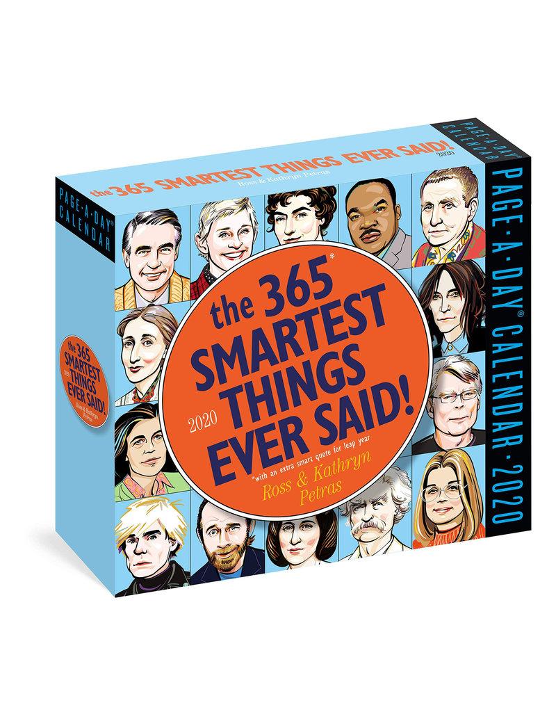 Workman Publishing Group Smartest Things Said Pad Calendar 2020