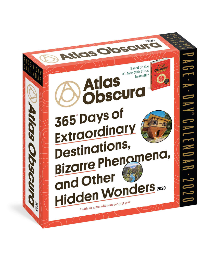Workman Publishing Group Atlas Obscura Pad Calendar 2020