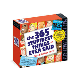 Workman Publishing Group Stupidest Things Ever Said Pad Calendar 2020