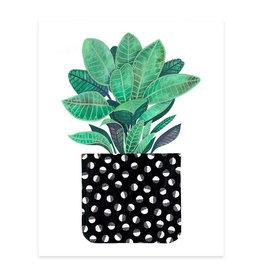 Cactus Club Paper Half Moon Houseplant Print