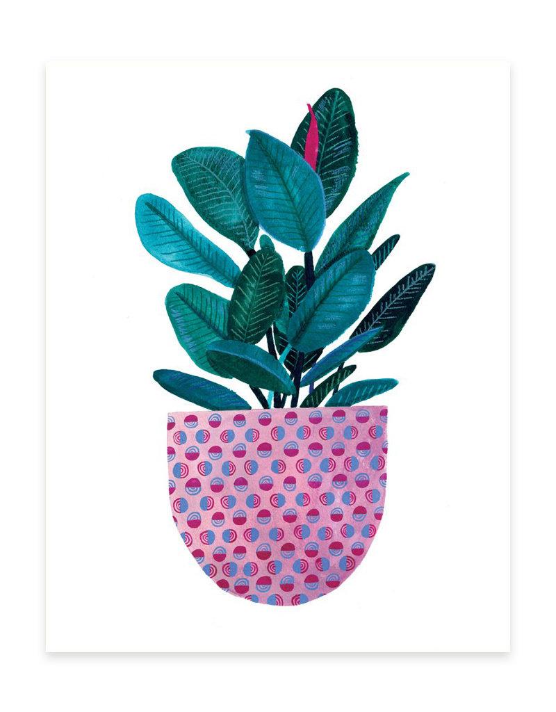 Cactus Club Paper Rubber Plant Print