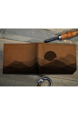 Backerton Printmaker Leather Wallet - Faded Mountains