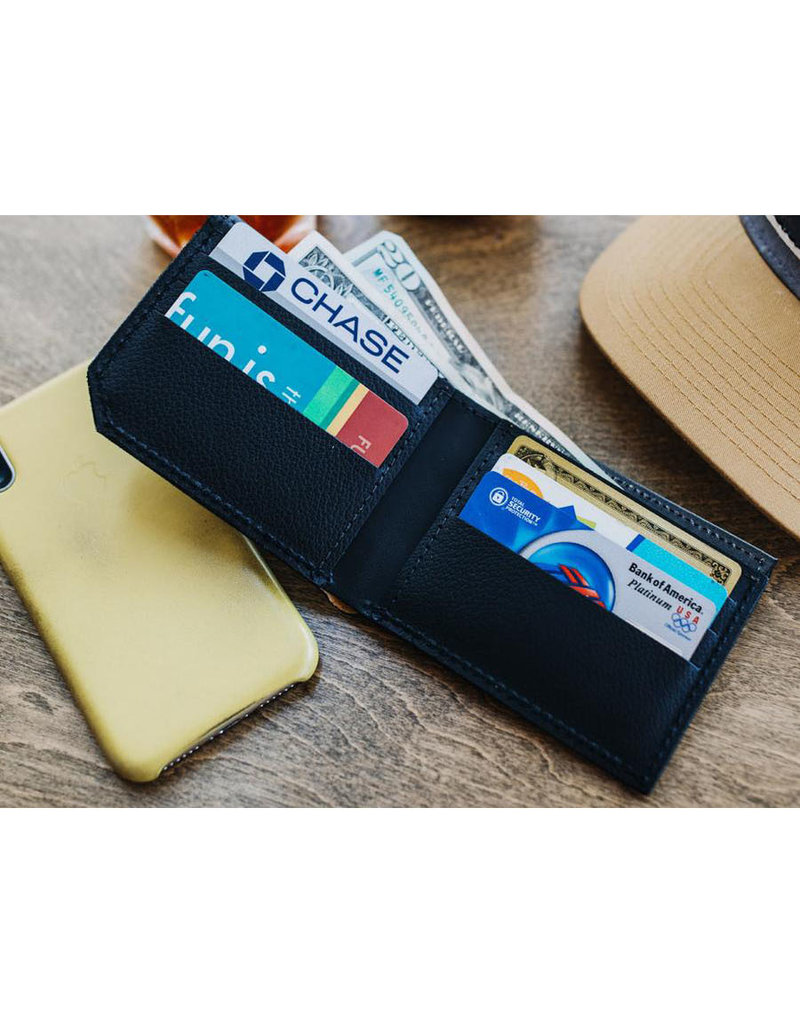 FluffyCo Printmaker Leather Wallet - Mountains