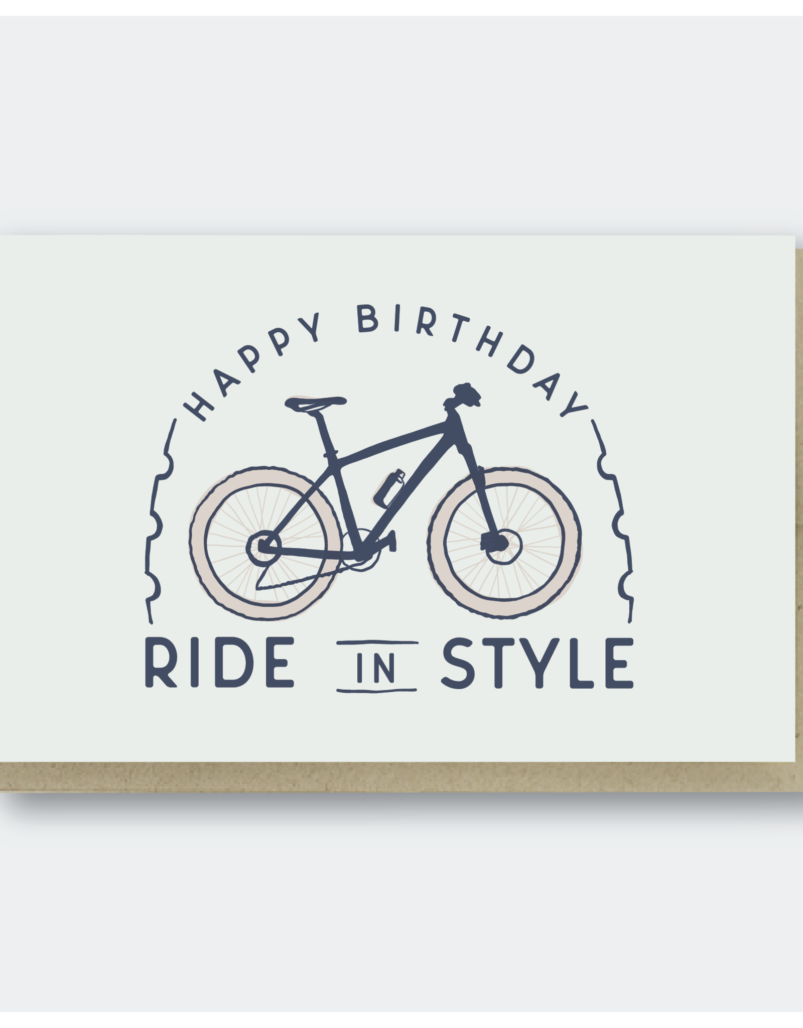 Ride in Style Birthday Greeting Card